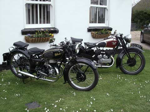 Some of the nice motorbikes taken to Cadwell Park and Holme Dene B & B